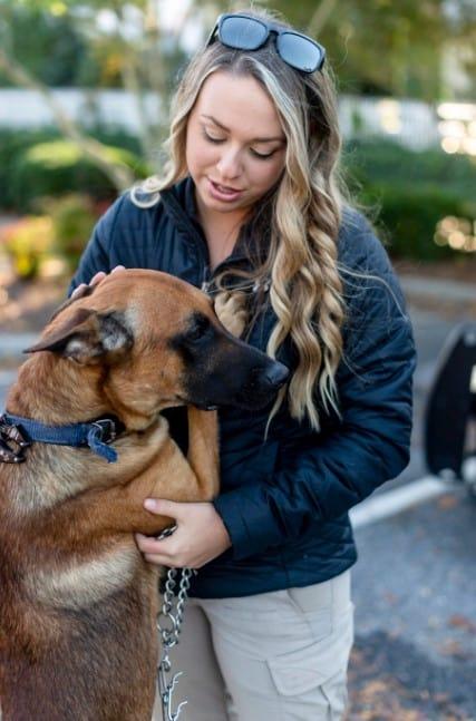 shana with dog